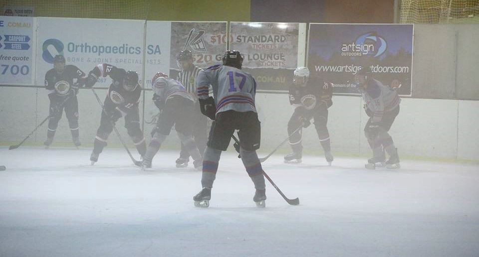 A very foggy Ice Arena!