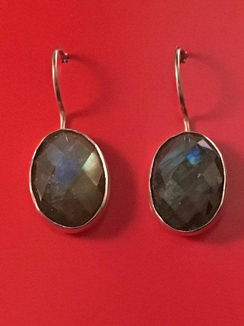 Labradorite Silver Earrings--SOLD