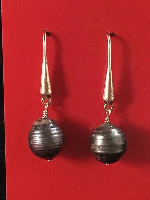 Sterling Silver & Pearl Drop Earring