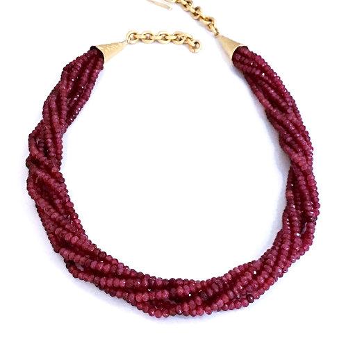 Multi-strand Ruby Necklace