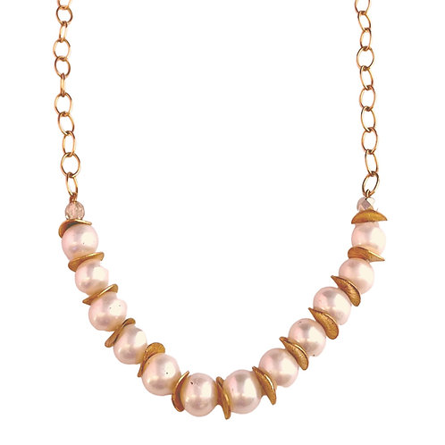 Gold Filled and Pearl Necklace