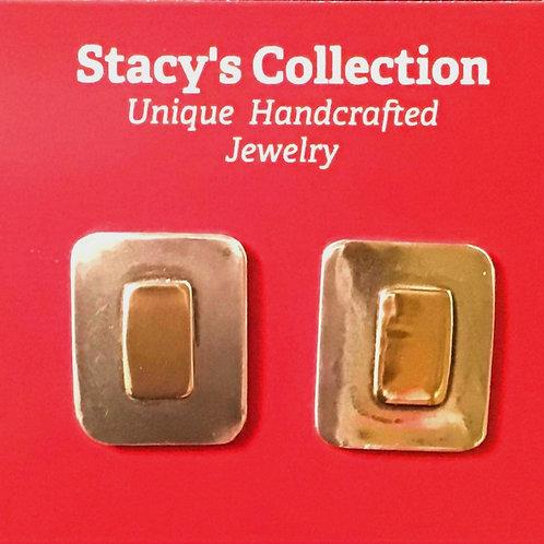 Gold & Silver Rectangle Earrings
