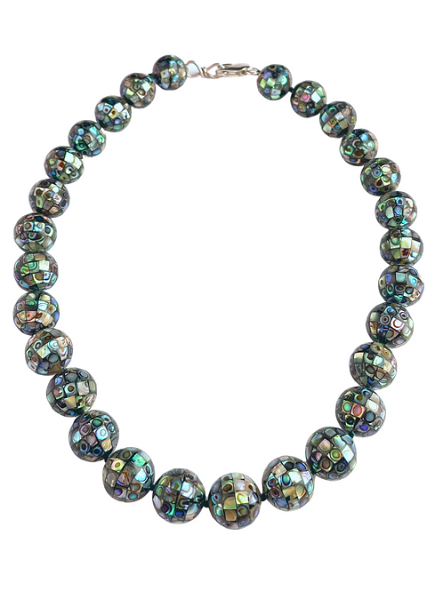 Abalone Pave Bead Necklace