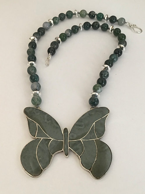 Butterfly & Sterling Necklace