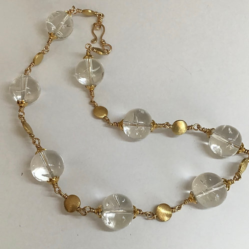 Glass & Gold Necklace