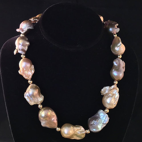 Baroque Pearls & 14K Gold