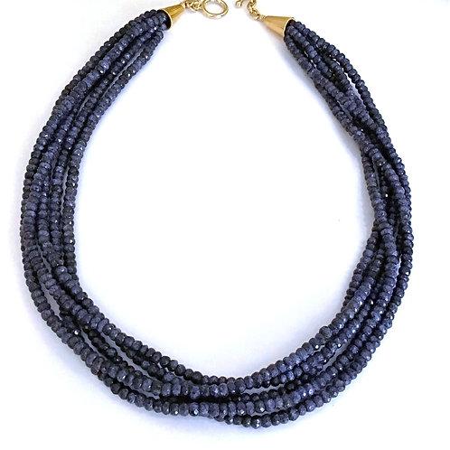 Multi-strand Sapphire Necklace