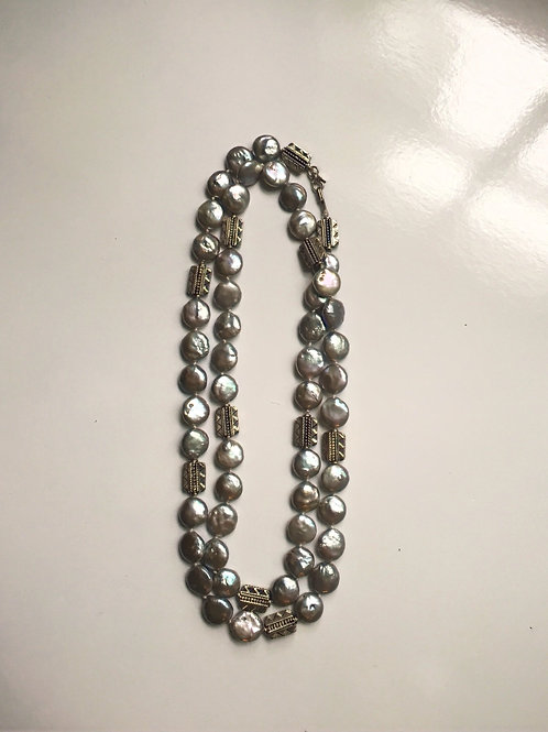 Gray Coin Pearls & Silver II