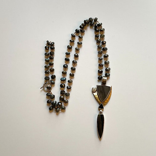 Multi-stone Pendant With Hematite Chain