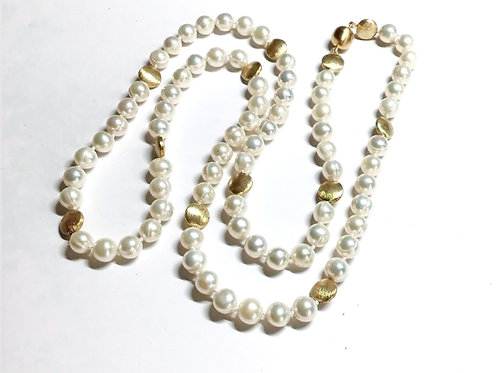 Pearls with A Touch of Gold