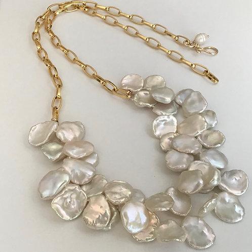 Keshi & Gold Necklace