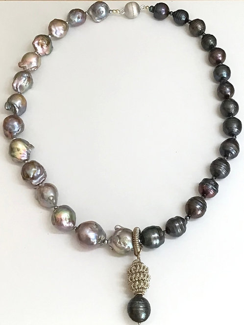 Baroques in Two Tones Necklace