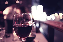 A glass of wine