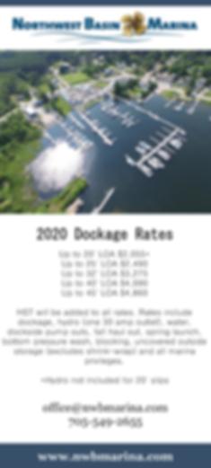 2020 Dockage Rates