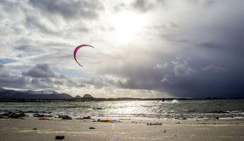 Kiting ved Farstadstranda