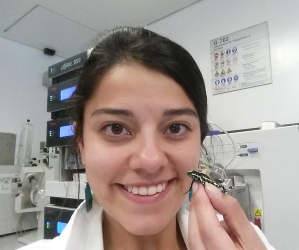 Mabel González estudia las ranas venenosas colombianas de la familia Dendrobatidae.