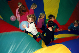 Kids having a blast at an SBGC party!