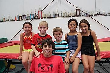 Sam having fun with kids at Camp!