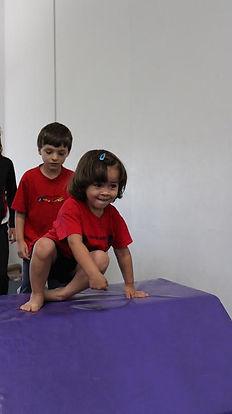 Children having fun at gym