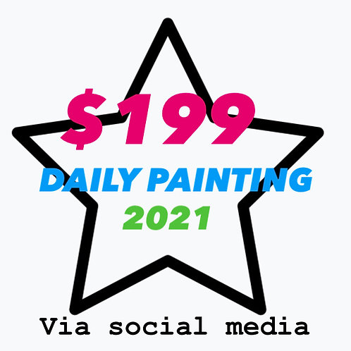 Daily $199 painting for 2021