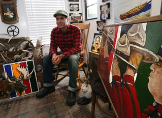 Victoria artist's Canadiana off to London for Canada Day