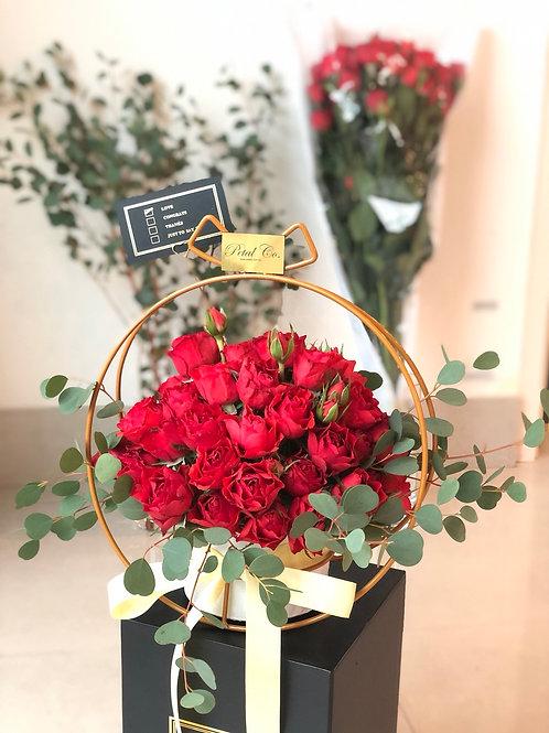 Fresh Rose Pot