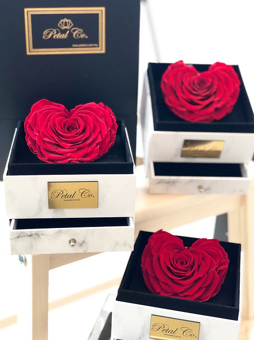Red Heart Rose Box