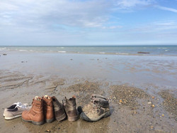 Shoes on the Bray shoreline