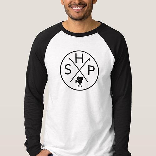 Steel House Long Sleeve Baseball T-Shirt