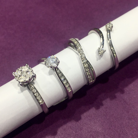 White Gold Rings - Rhodium Plating Services Available