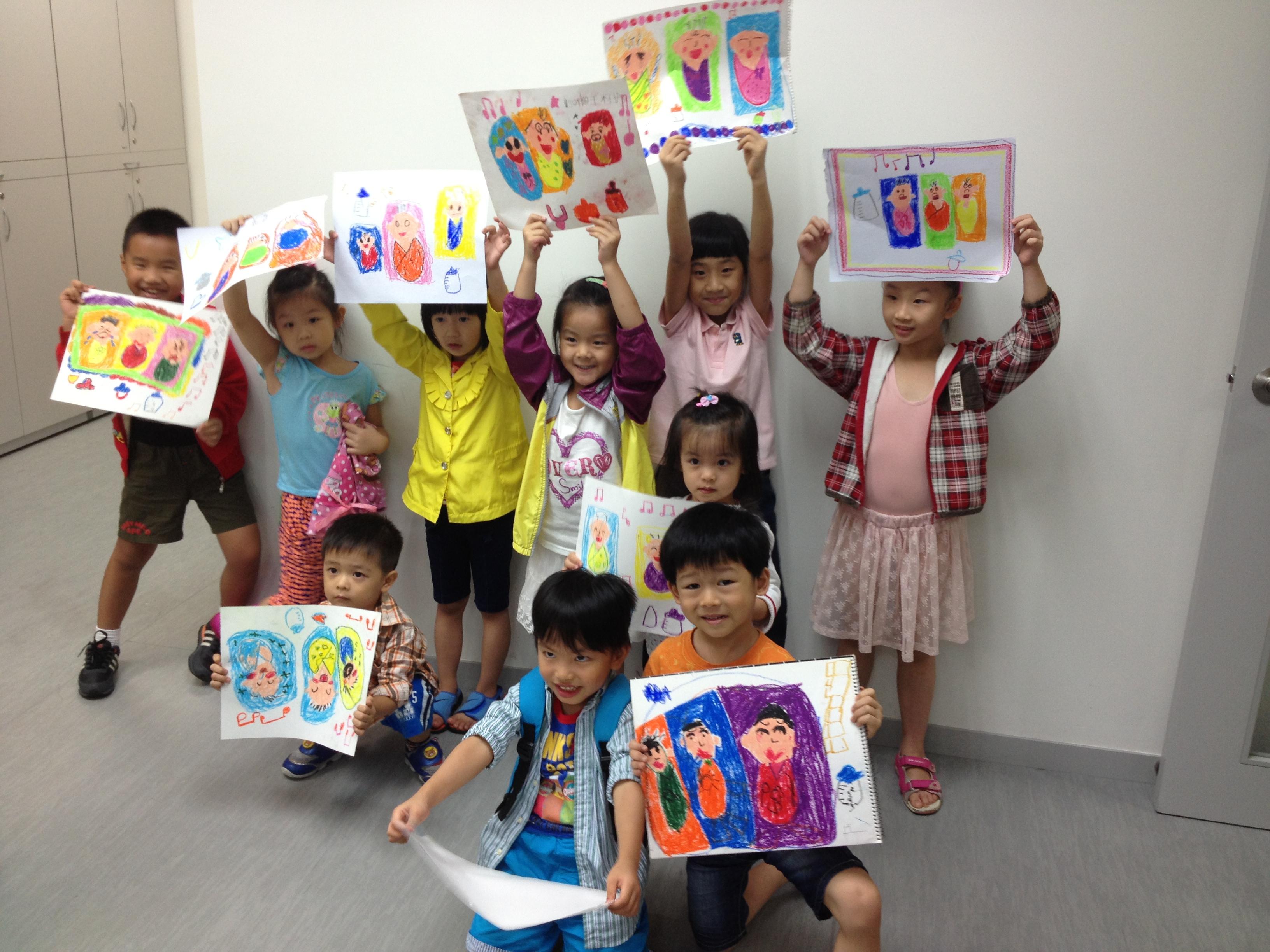 基層家庭兒童畫班