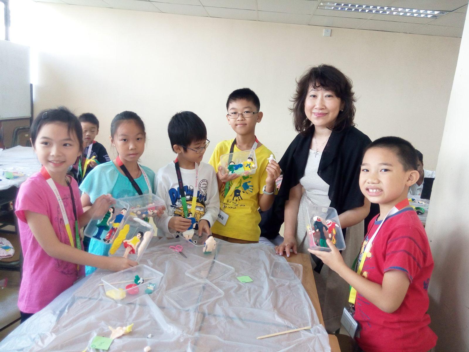 擔任兒童靈美創意課程導師--葵福中心