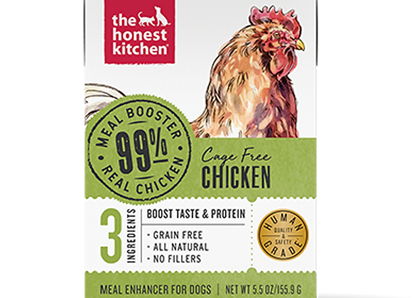 Honest Kitchen Dog 99% Chicken Meal Booster Wet Dog Food 5.5 Oz. Case of 12