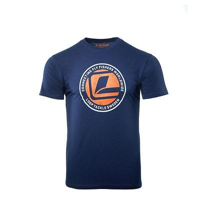 Connecting L-Logo T-Shirt, Navy