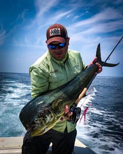 Ecuador Fly Fishing Mahi-Mahi on Fly
