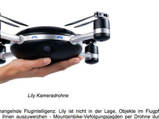 Eine Kamera-Drohne zum In-Die-Luft-Werfen: Lily