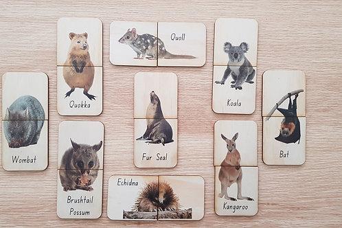 Aussie Wildlife Matching Puzzle - Animals