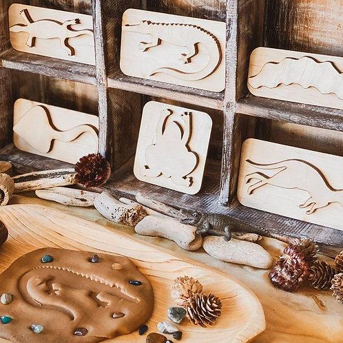 Wooden Animal Stamp Set