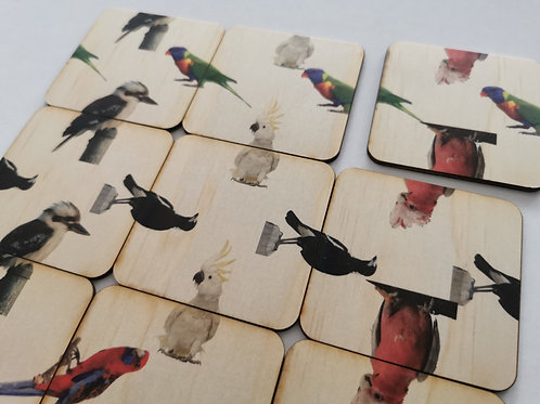 Heads & Tails Wooden Puzzle - Birds
