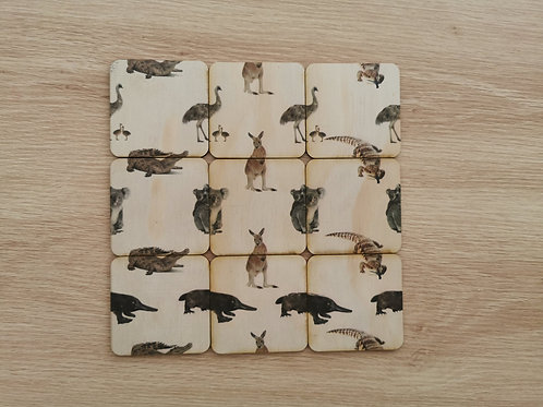 Heads & Tails Wooden Puzzle - Animals