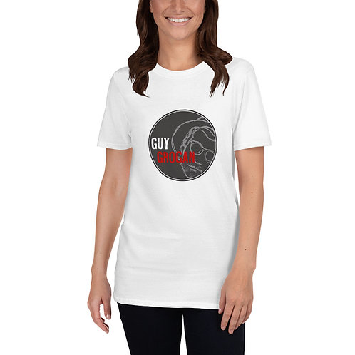 Short-Sleeve Unisex Guy Grogan T-Shirt-Black logo