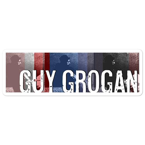 Bubble-free Guy Grogan sticker