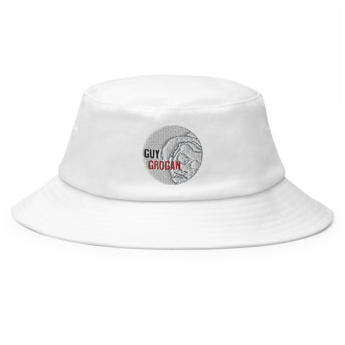 Old School Bucket Hat With Guy Grogan Logo