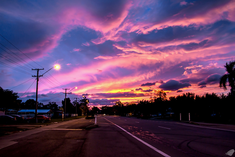 Sunset after Cyclone Debbie