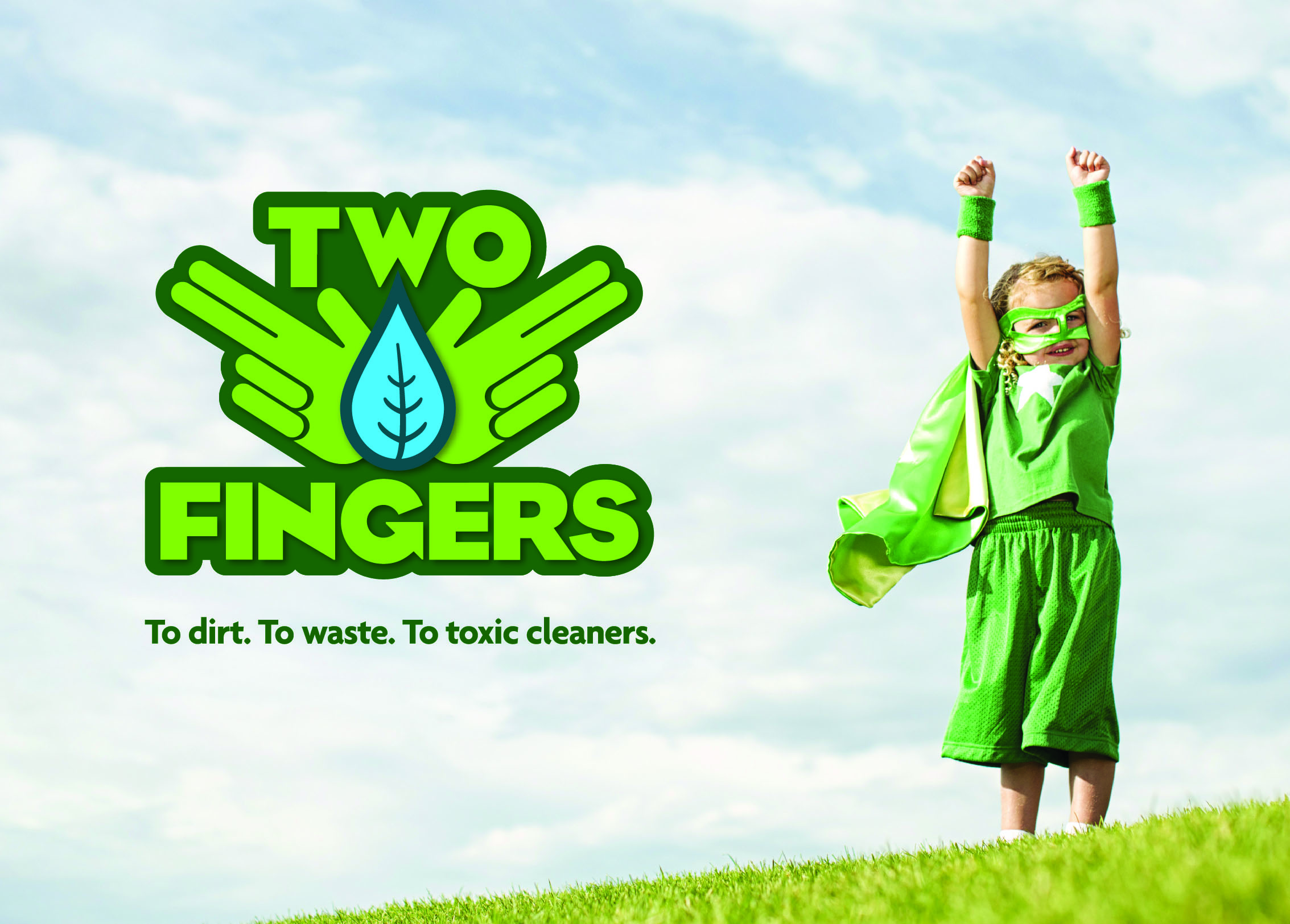Two Fingers Cleaning Products Logo