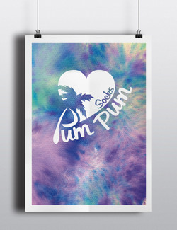 PumPum socks logo design