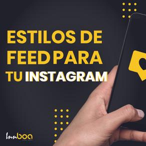 4 Estilos de feed en Instagram que debes de conocer.