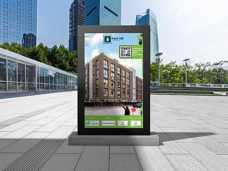 Free Outdoor Office Billboard Mockup For