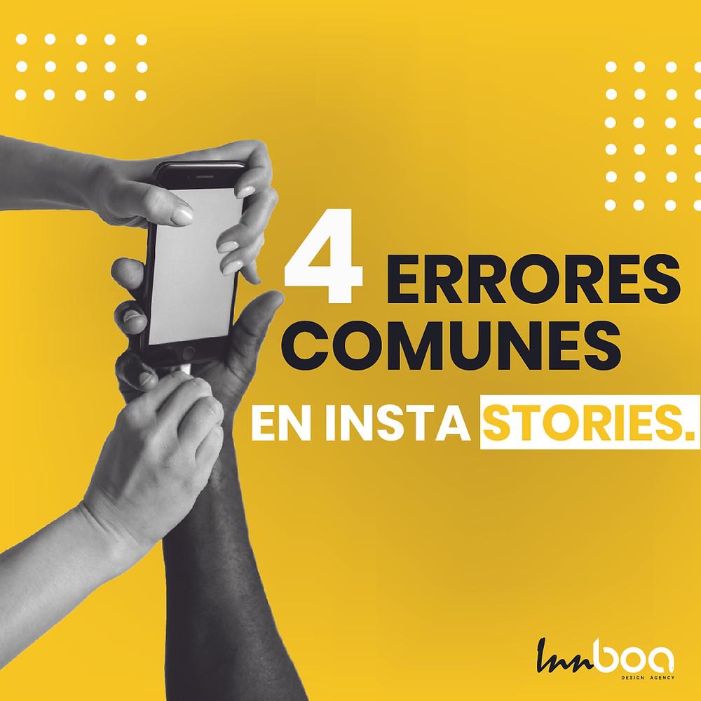 Errores comunes en Insta stories