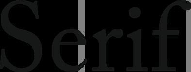 Ejemplo Tipografía Serif